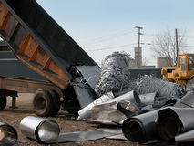 Steel scrap in junk yard Royalty Free Stock Images