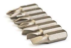 Steel screwdriver tips Stock Image