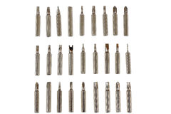 Steel screwdriver tips of different types Stock Photo