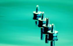 Steel screws Royalty Free Stock Images