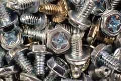 Steel screws for personal computer case Stock Image
