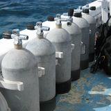 Steel Scuba Tanks Stock Photos