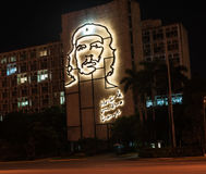 Steel sculpture of Che Guevara on side of Cuban go Stock Photos