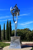 Steel sculpture in park Royalty Free Stock Images