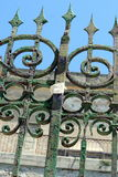 Steel security gate stock images