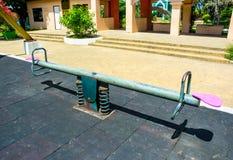 Steel seesaw Stock Photos
