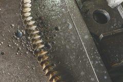 Steel shavings Stock Image