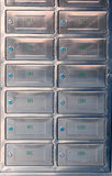 Steel sheet mailbox Royalty Free Stock Images