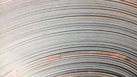 Steel sheets rolled up into rolls. Export Steel. Packing of stee Stock Image