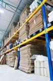 Steel Shelf for paper packaging Stock Image