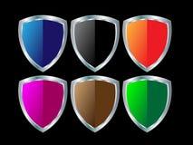 Steel shields Stock Image