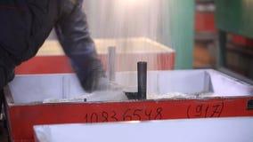 Steel shop.  ladle stock footage