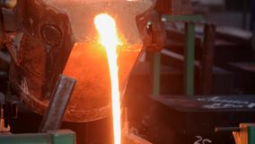 Steel shop. ladle stock video footage