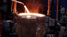 Steel shop. ladle stock video