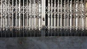 The steel shophouse door Stock Image