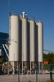 Steel silo Royalty Free Stock Image