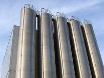 Steel Silo. Steel Industrial Silo royalty free stock photo