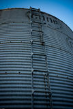 Steel Silo. Steel cold silo reaching into the sky Royalty Free Stock Images