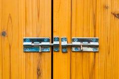 Steel slide locks Royalty Free Stock Photo