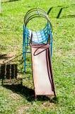Steel slider playground parkingtoy Royalty Free Stock Photos