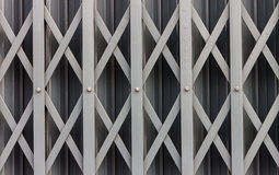 Steel sliding door. Royalty Free Stock Images