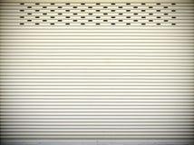 Steel sliding doors , Metal sheet slide door texture Stock Photos