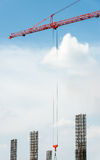 Steel sling. From high crane in the construction site Stock Images