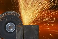 Steel spark Stock Photography