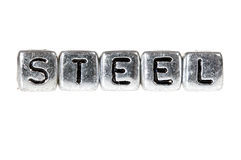 Steel spelled out Stock Images