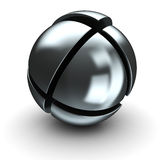 Steel sphere Stock Photo
