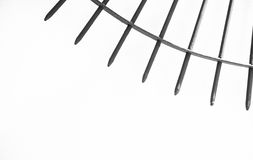Steel spikes on white Silhouette. Stock Photo