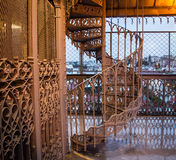 Steel spiral staircase Royalty Free Stock Photos