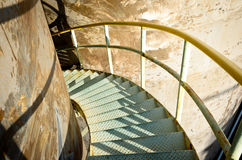 Steel spiralc stairs Stock Photos