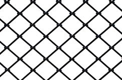 Steel square grid on a white background Stock Image