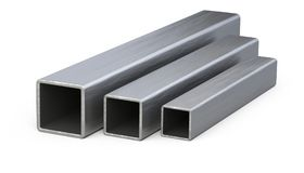 Steel square pipes profile. Royalty Free Stock Images