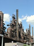Steel stacks Royalty Free Stock Image