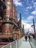 Steel stacks. Taken at Lehigh valley Stock Photos