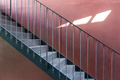 Steel stair Royalty Free Stock Images