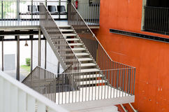 Steel stair. Steel construction of the stair Stock Photos