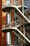 Steel Staircases, Windows and Red Walls Royalty Free Stock Image