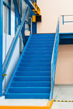 Steel stairs. For going up to elevated floor in the factory Stock Photography
