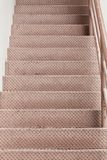 Steel stairs with line for separated up or down Royalty Free Stock Image