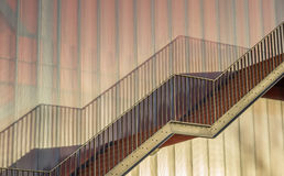 Steel stairs on a modern building of the Groningen university Royalty Free Stock Photo