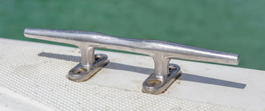 Steel stake of yacht or boat Royalty Free Stock Image