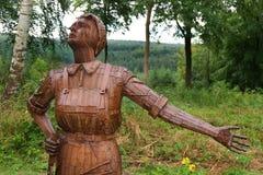 Steel statue commemorating war work. Stock Image