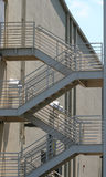 Steel Steps. Steel fire escape steps Stock Photography