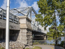 Steel & stone bridge Royalty Free Stock Photos