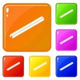 Steel straalpictogrammen geplaatst vectorkleur vector illustratie