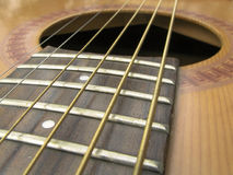 Steel String Guitar. Closeup Royalty Free Stock Photo