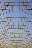 Steel Structure. On construction site Stock Image